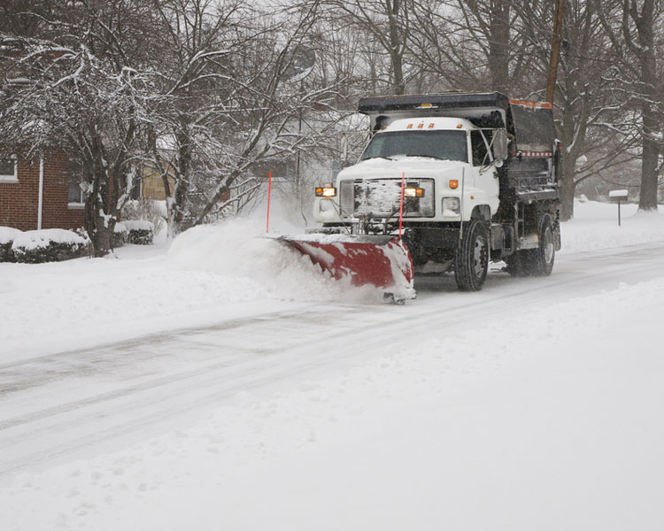 This is Commercial Snow Ploughing Image